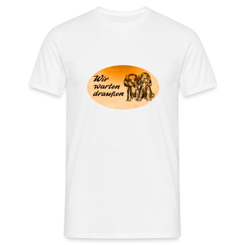 Dackel Ovalorange - Männer T-Shirt