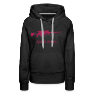 Hoodies & Sweatshirts ~ Women's Premium Hoodie ~ Womens Hoodie : Quick Scope (Pink)