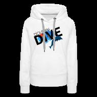 Hoodies & Sweatshirts ~ Women's Premium Hoodie ~ Womens Hoodie : Dolphin Dive