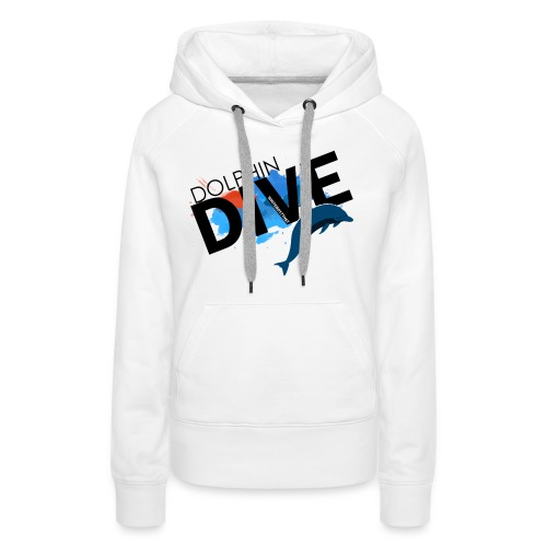 Womens Hoodie : Dolphin Dive  - Women's Premium Hoodie