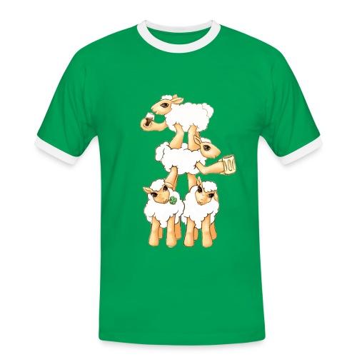 Moutons fêtant la St Patrick - T-shirt contrasté Homme
