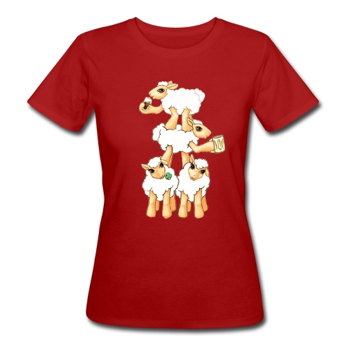 Moutons fêtant la St Patrick - T-shirt bio Femme