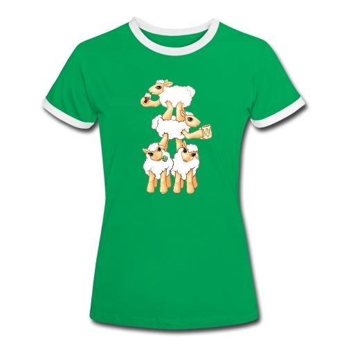 Moutons fêtant la St Patrick - T-shirt contrasté Femme