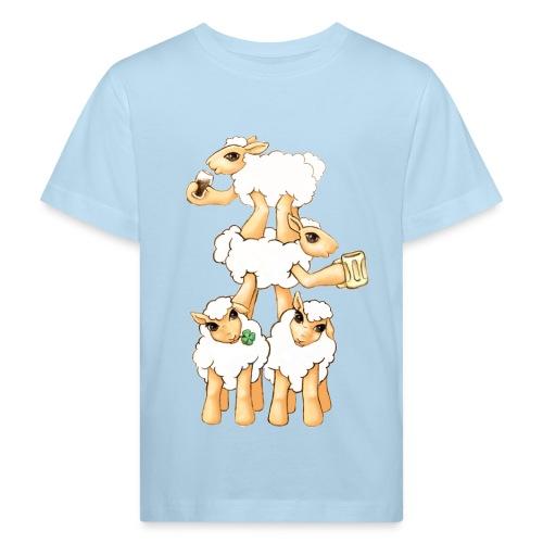 Moutons fêtant la St Patrick - T-shirt bio Enfant
