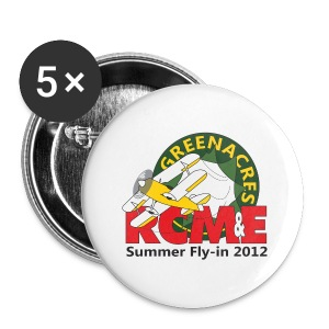 RCME Greenacres 2012 Classic Badges - pack of 5 - Buttons large 56 mm