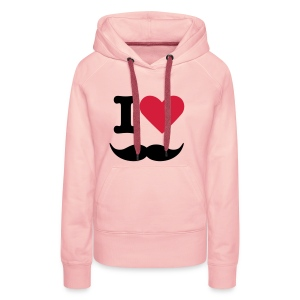 I love moustache - Vrouwen Premium hoodie