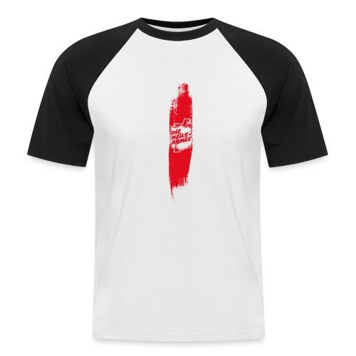 Heilsarmee Shield Streifen (rot) - Männer Baseball-T-Shirt