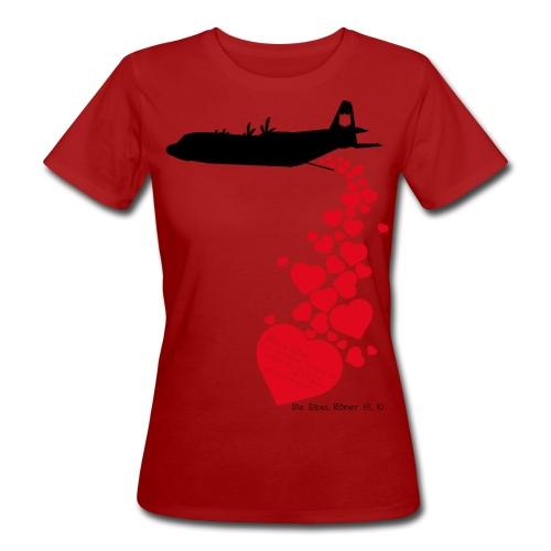 Lovebomb (schwarz/rot) - Frauen Bio-T-Shirt