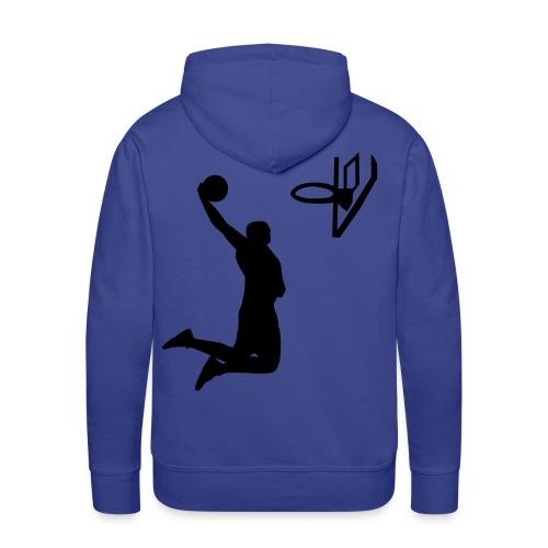 Felpa Basket Schiacciata - Felpa con cappuccio premium da uomo