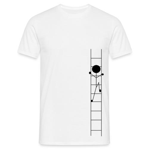 Auf der Leiter Männer T-Shirt - Männer T-Shirt