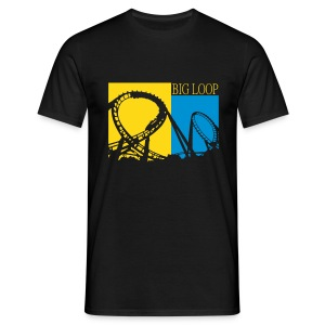 Big Loop Coaster Fan Shirt Druck - Männer T-Shirt