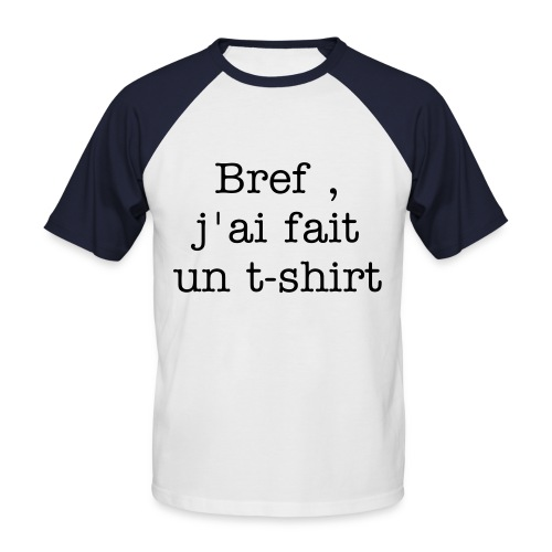 bref - T-shirt baseball manches courtes Homme