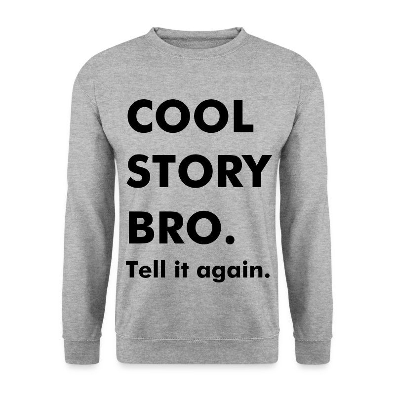 West-Dope Cool Story Tyk Skrift Crewneck - Herre sweater