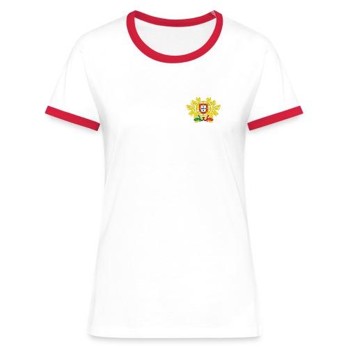blanco Rosso portugal - T-shirt contrasté Femme