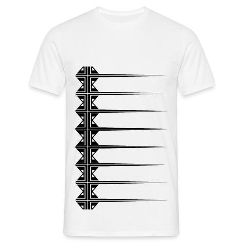 Motif losanges lignes - T-shirt Homme