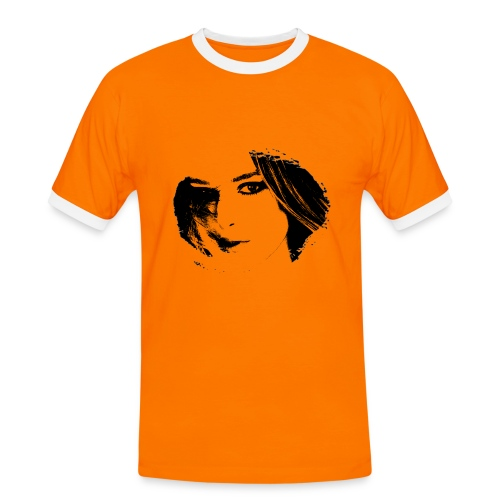 Portrait 2 Tee shirts  - T-shirt contrasté Homme