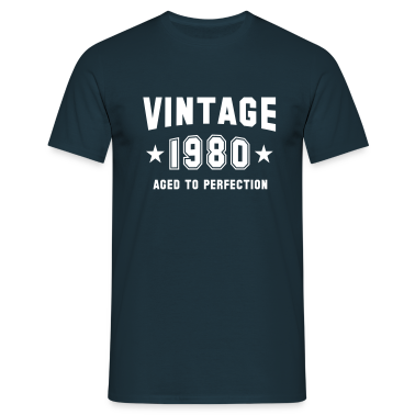 VINTAGE 1980 - Birthday T-Shirt
