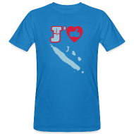 Tee shirts ~ Tee shirt bio Homme ~ J'aime la Nouvelle Calédonie