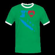 Tee shirts ~ Tee shirt contraste Homme ~ J'aime la Nouvelle Calédonie