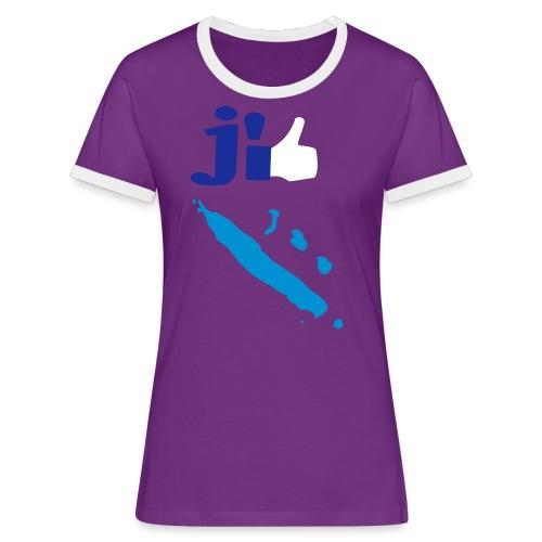 J'aime la Nouvelle Calédonie  - T-shirt contrasté Femme