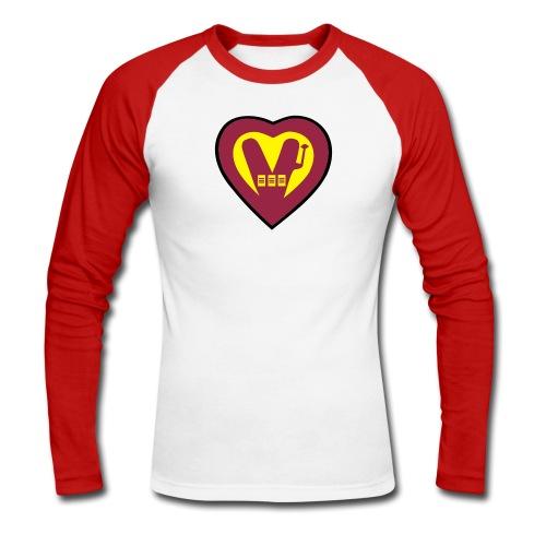 super Vegan - Men's Long Sleeve Baseball T-Shirt