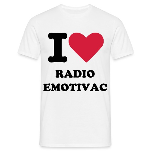 Bijela Majca MUSKA sa I Love Radio Emotivac - Men's T-Shirt