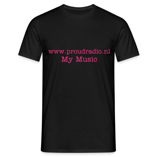 My Radio Black- pink - Mannen T-shirt