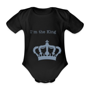 body I'M THE KING - Body bébé bio manches courtes