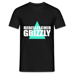 REBELLISCHER GRIZZLY BLACK BOY - Männer T-Shirt