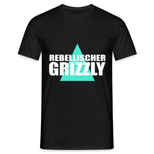 REBELLISCHER GRIZZLY BLACK BOY - Männer T-Shirt