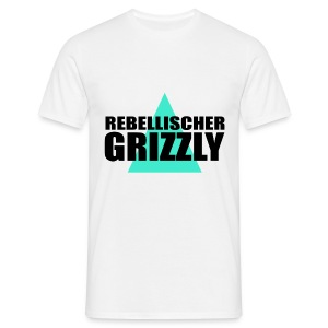REBELLISCHER GRIZZLY WHITE BOY - Männer T-Shirt