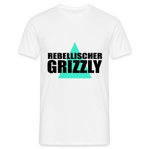 REBELLISCHER GRIZZLY WHITE BOY - Männer T-Shirt