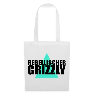 REBELLISCHER GRIZZLY WHITE BAG - Stoffbeutel