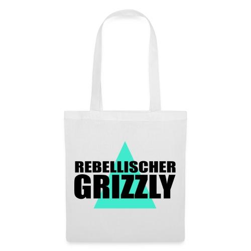 REBELLISCHER GRIZZLY WHITE BAG - Stoffbeutel