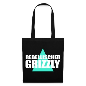 REBELLISCHER GRIZZLY BLACK BAG - Stoffbeutel