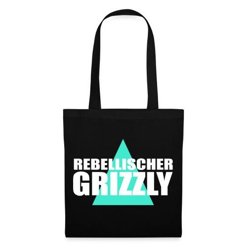 REBELLISCHER GRIZZLY BLACK BAG - Stoffbeutel