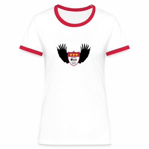 Kölsche Bloot Flügel - Frauen Kontrast-T-Shirt