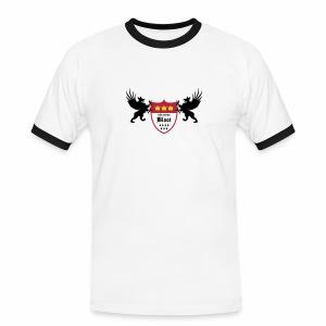Kölsche Bloot Drachen - Männer Kontrast-T-Shirt