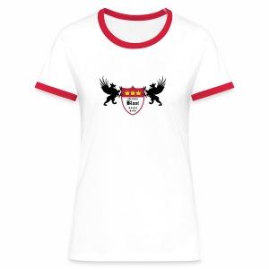 Kölsche Bloot Drachen - Frauen Kontrast-T-Shirt