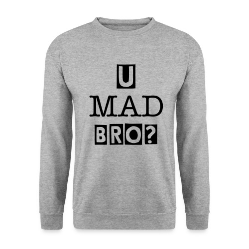 U Mad BRO - Original Crewneck WHITE - Herre sweater