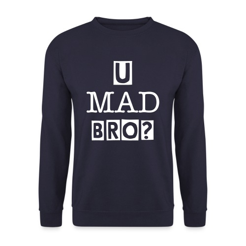 U Mad BRO - Original Crewneck NAVY - Herre sweater