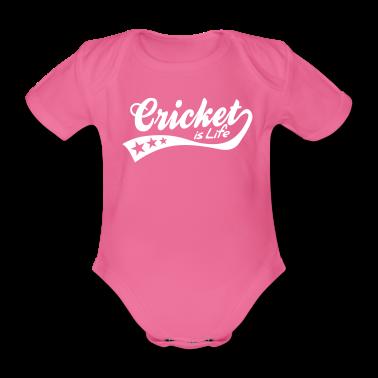 cricket is life - retro Baby Bodysuits