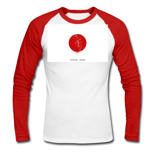 Support Japan Sleeve - Men's Long Sleeve Baseball T-Shirt