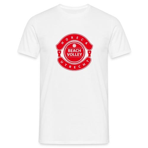 Horeca Beachvolley Utrecht - Front Red - Mannen T-shirt