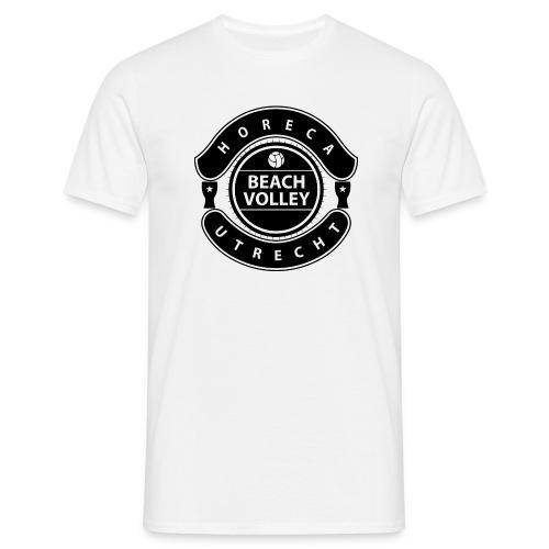 Horeca Beachvolley Utrecht - Front Black - Mannen T-shirt