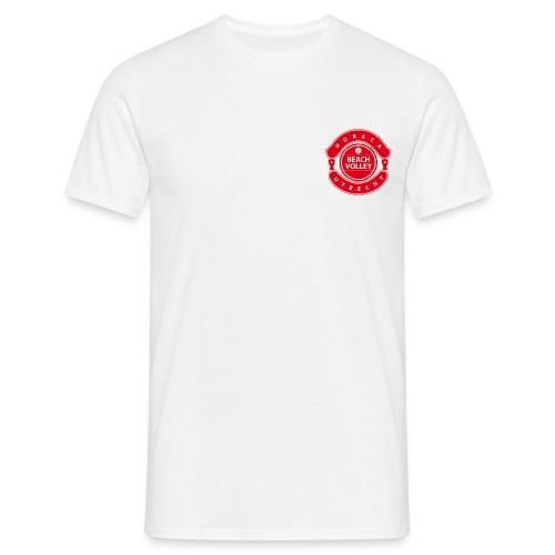 Horeca Beachvolley Utrecht - Front-Back Red - Mannen T-shirt
