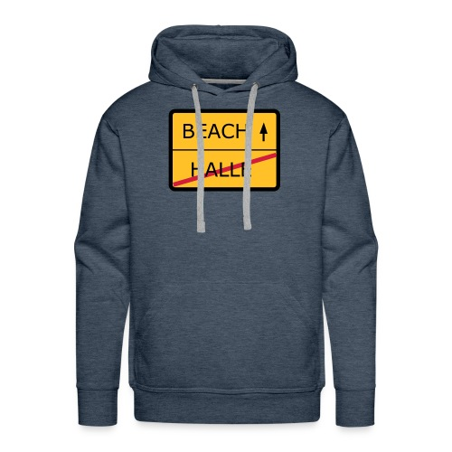 No Halle, just Beach - Männer Premium Hoodie