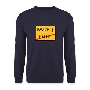 No Halle, just Beach - Männer Pullover