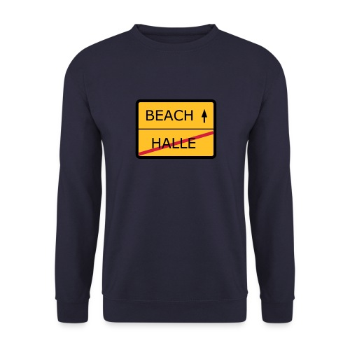 No Halle, just Beach - Männer Pullover