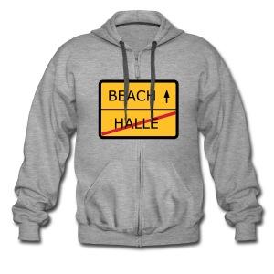 No Halle, just Beach - Männer Premium Kapuzenjacke